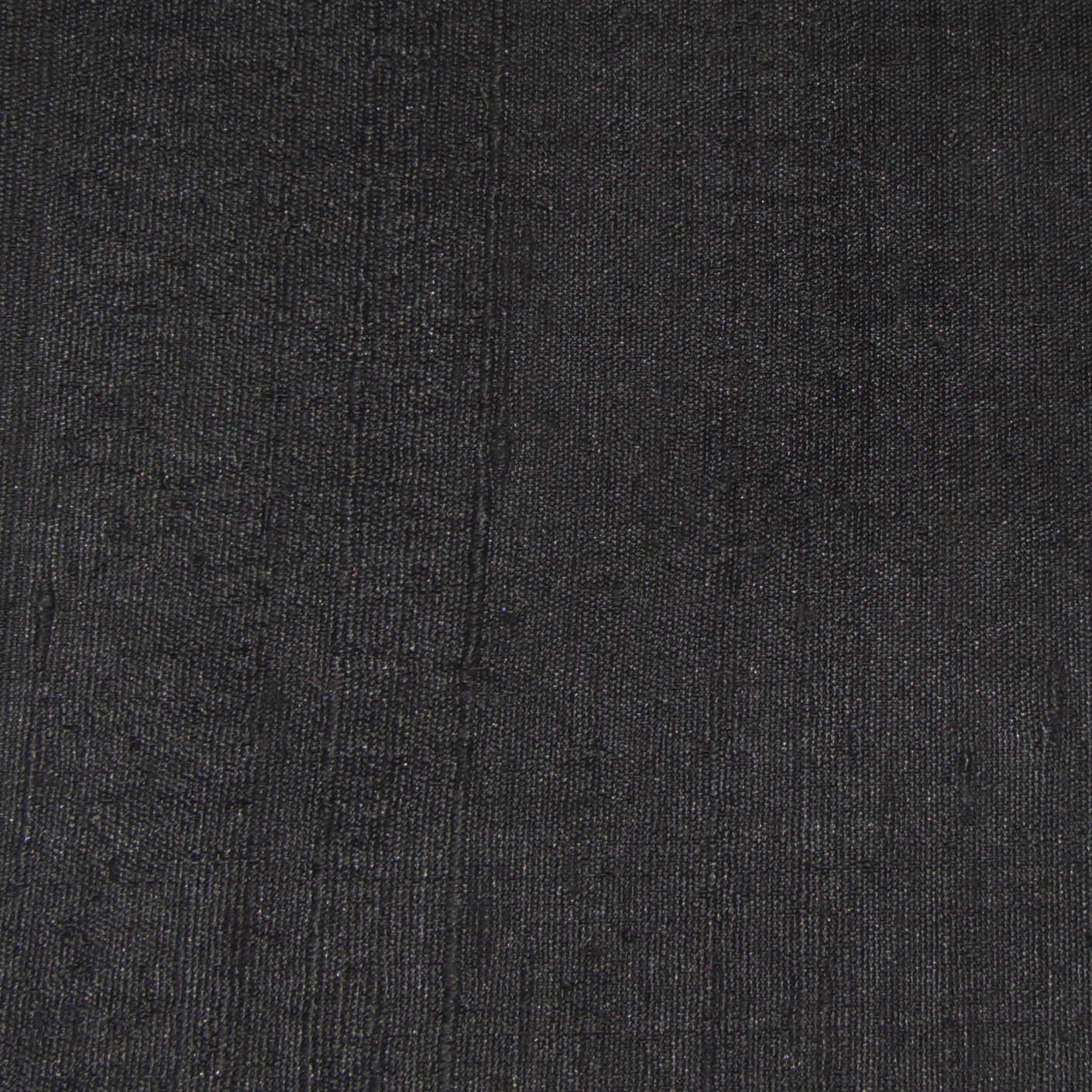 Black Raw Silk