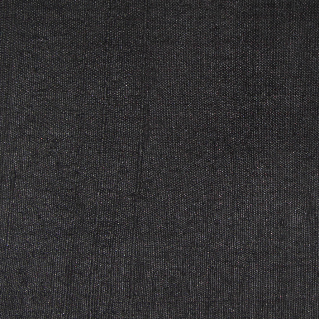 Fair Trade Black Raw Silk