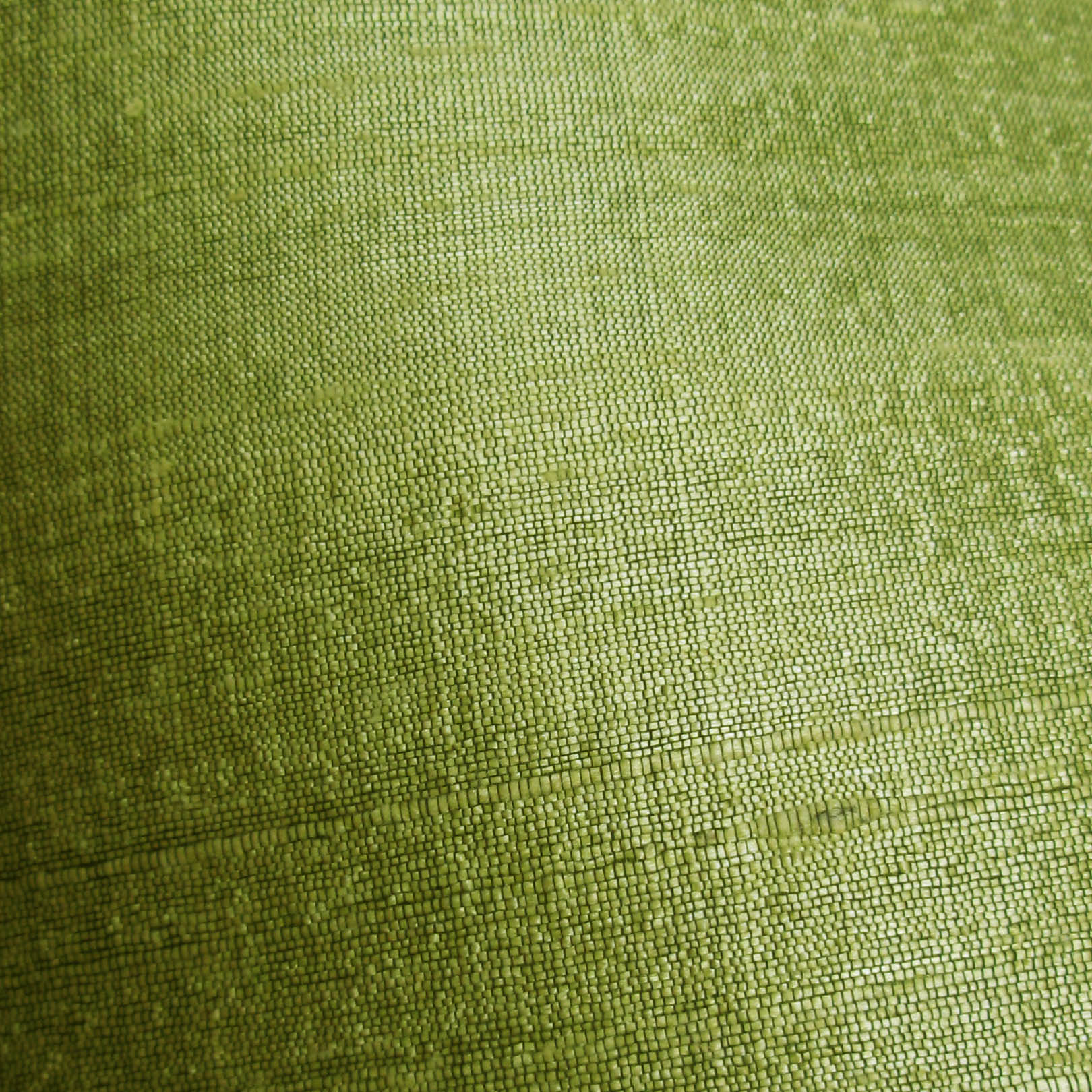 Fair Trade Lime Green Raw Silk