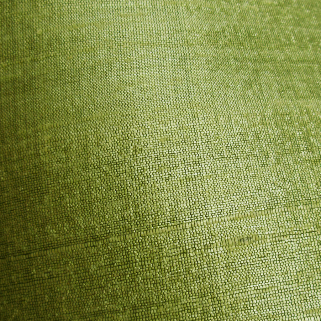 Lime Green Raw Silk