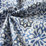 Organic Blue & White Sahu Cambric