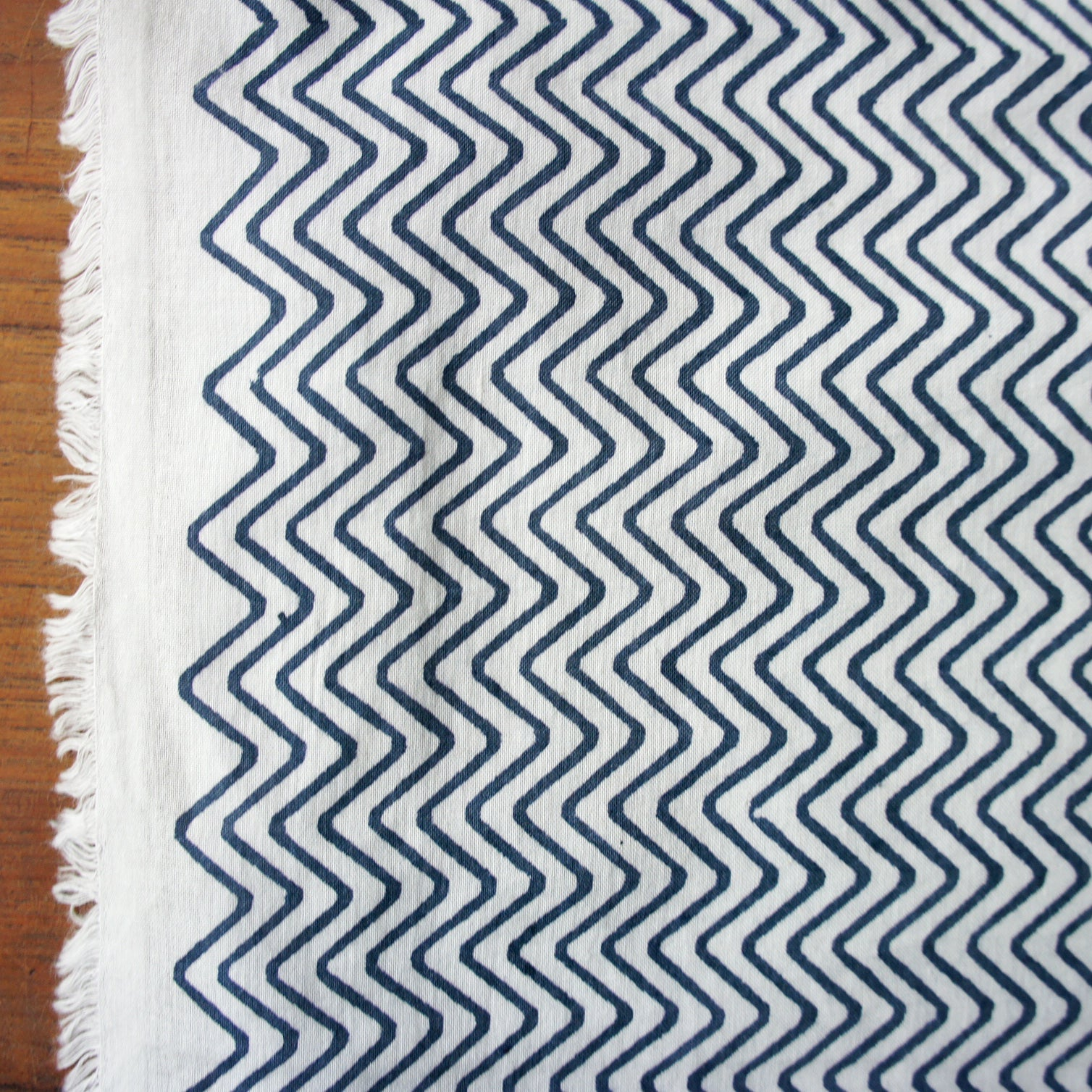 Organic Blue & White Beher Cambric
