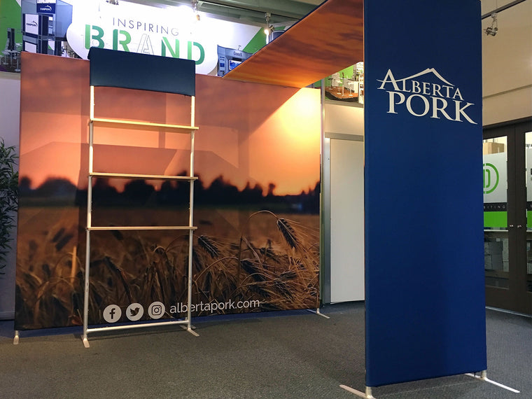 Contour 10' x 10' portable trade show booth - Alberta Pork