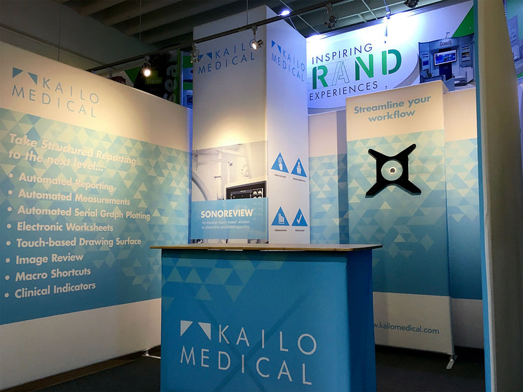 Contour 10' x 10' portable trade show booth - Kailo Medical