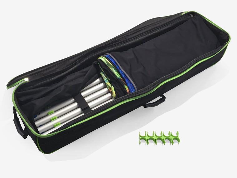 Contour wheeled transports bag and tube clip