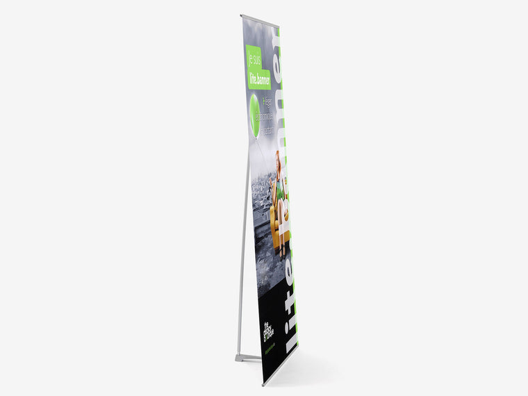 LiteBanner Banner Stand Side View