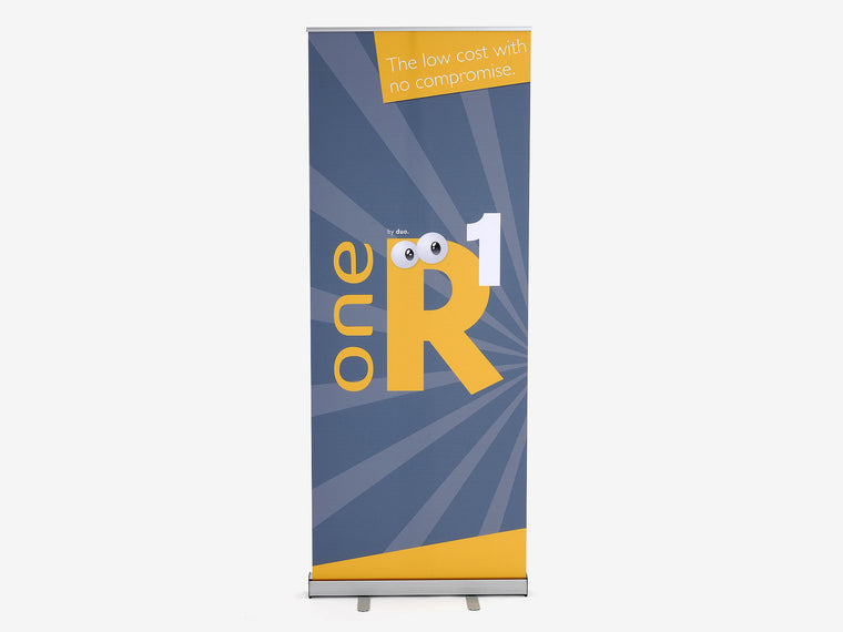 One R1 Banner Stand Front View