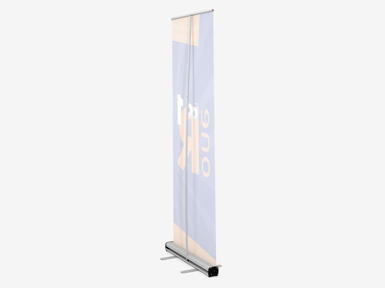 One R1 Banner Stand Back View