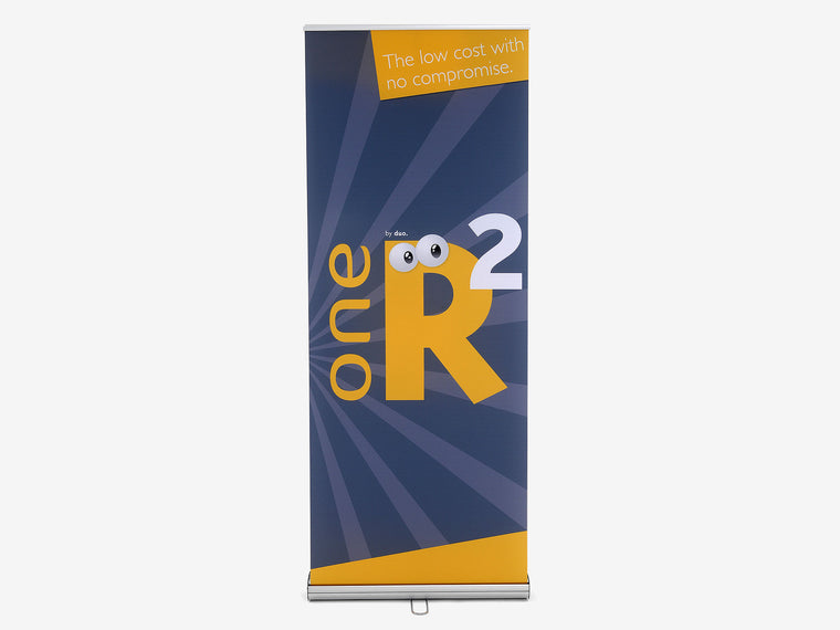One R2 Banner Stand Front View