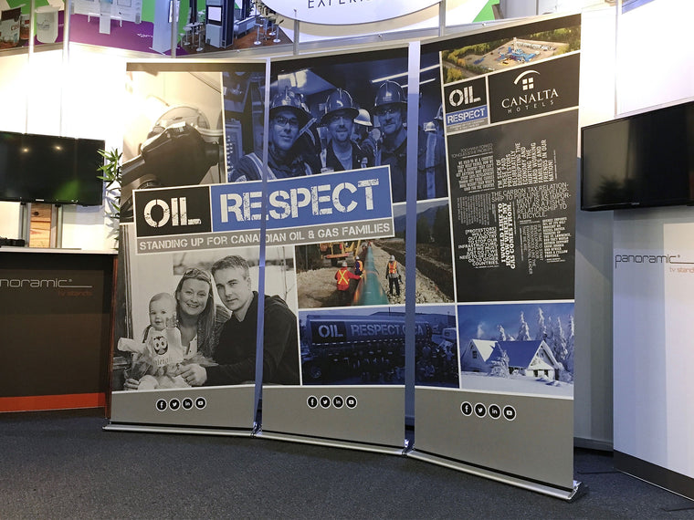 Supreme Banner Stands CAODC Oil Respect