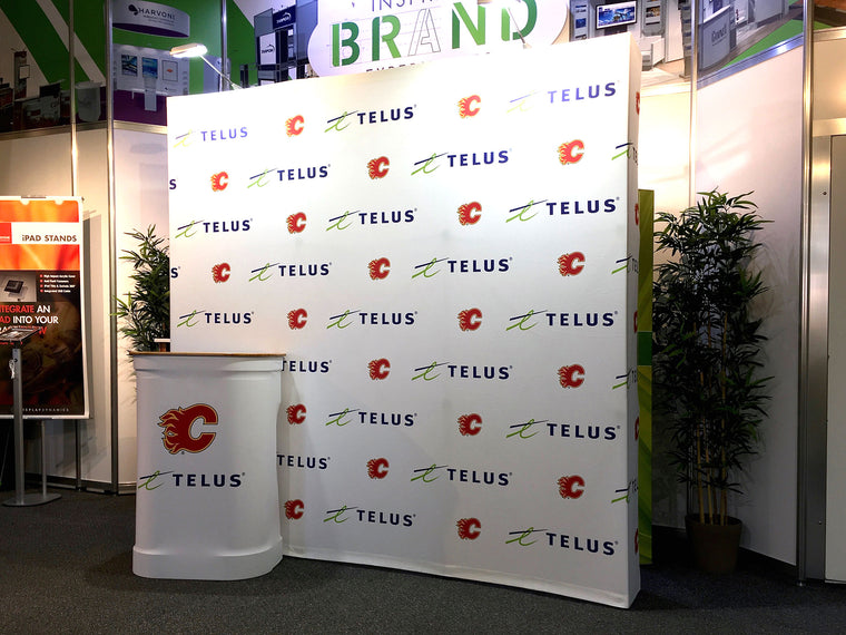 Xtension Squared 8' x 8' with L Case (Telus Calgary Flames)