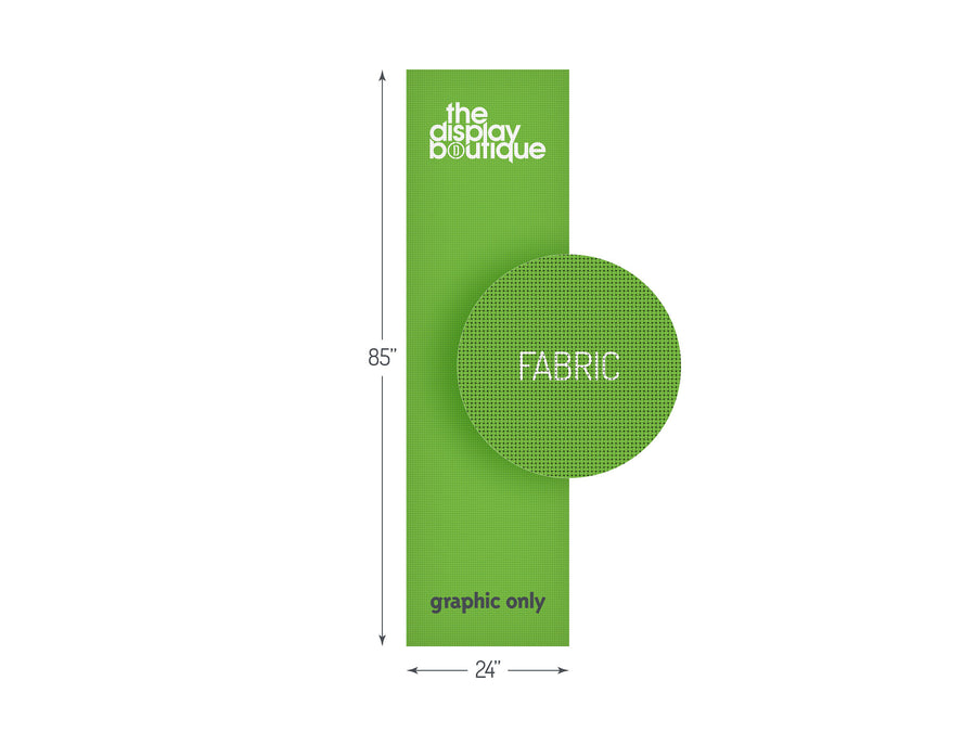 "Fabric Banner Stand Graphic 24"" x 85"""
