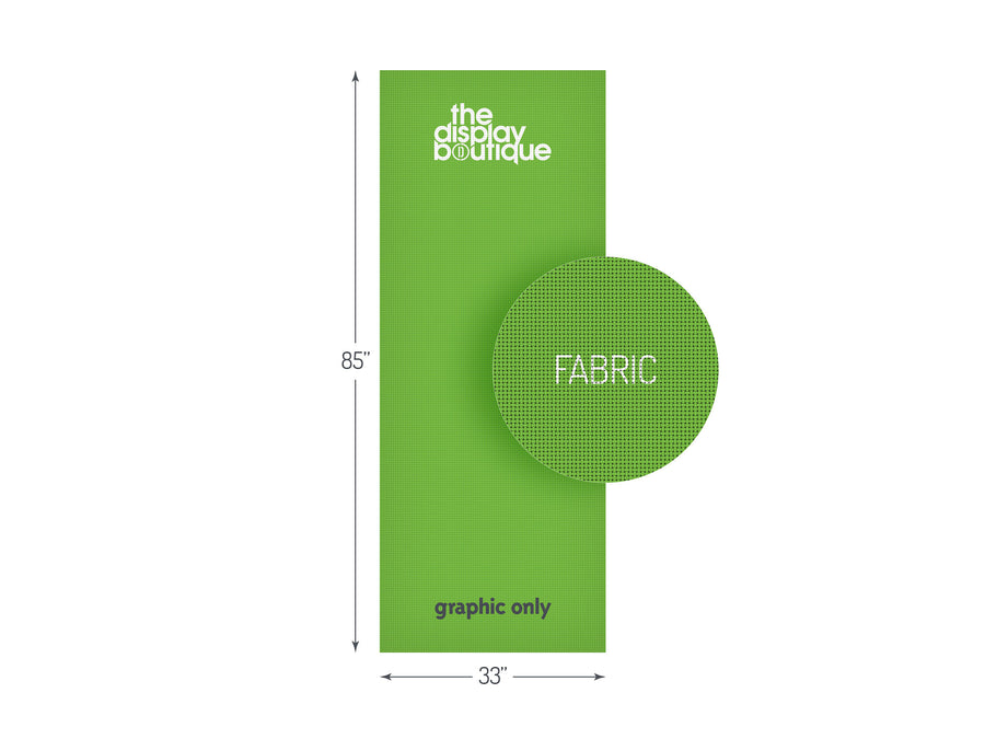 "Fabric Banner Stand Graphic 33"" x 85"""