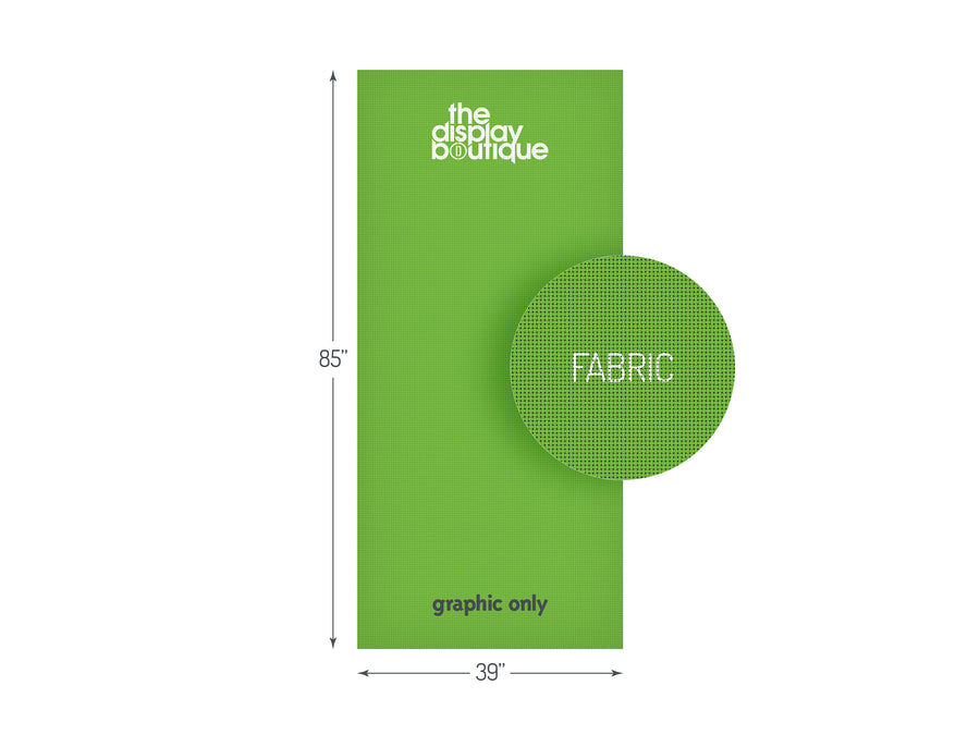 "Fabric Banner Stand Graphic 39"" x 85"""