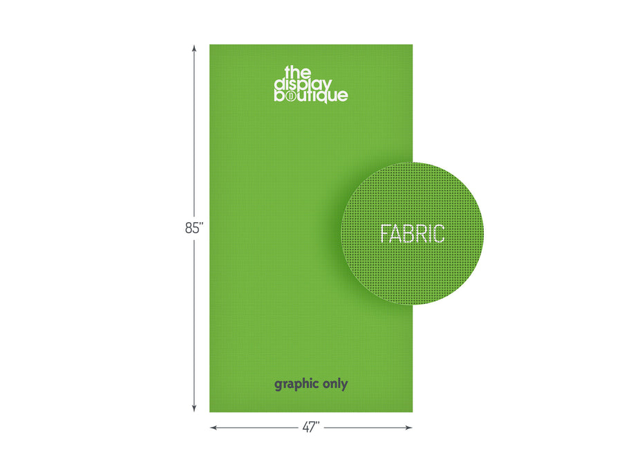 "Fabric Banner Stand Graphic 47"" x 85"""