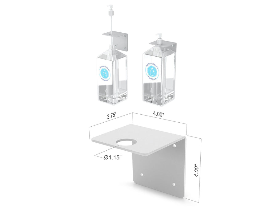 Hand Sanitizer Manual Pump Dispenser Wall Mount Bracket (4 Pack)