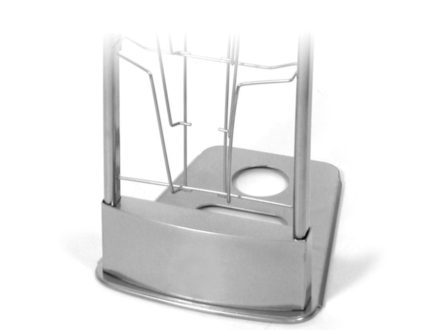 Innovate 10-pocket literature stand available in black and silver