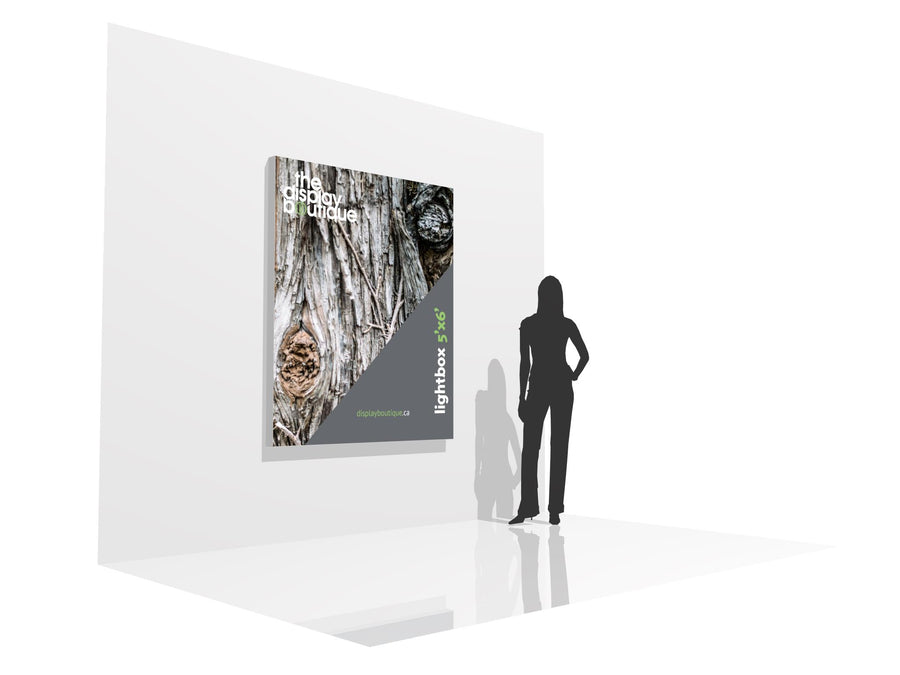 Wall-Mounted Lightbox 5' x 6' (View 01)