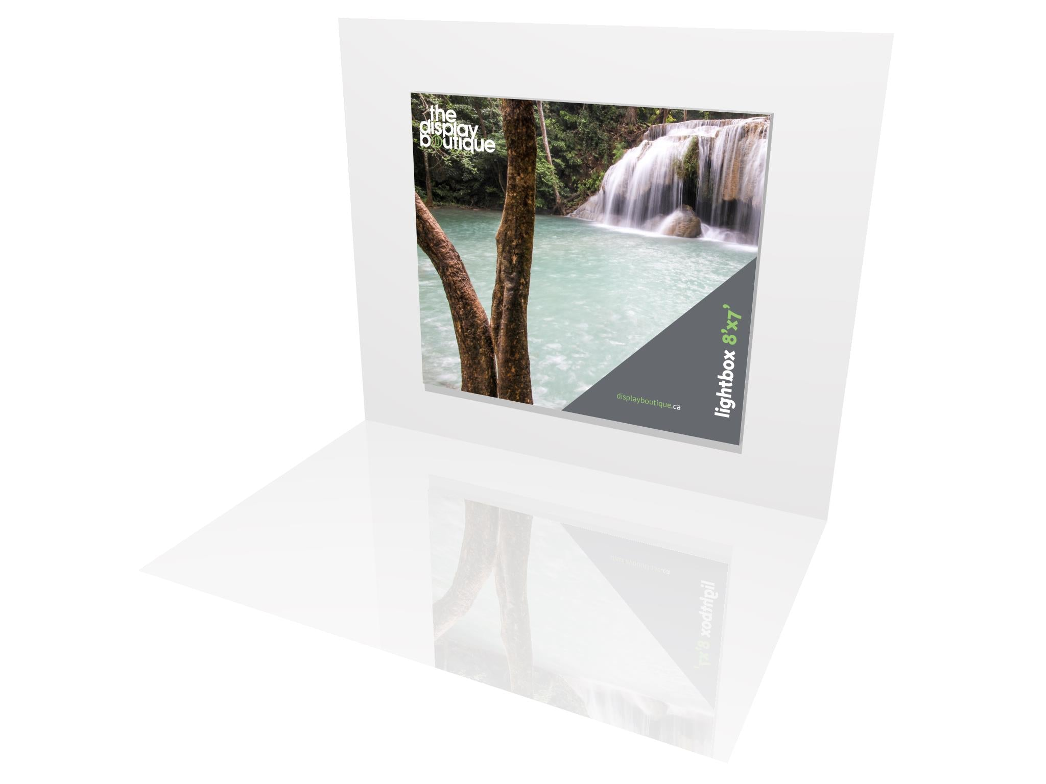 Wall-Mounted Lightbox - 8\' x 7\' - The Display Boutique
