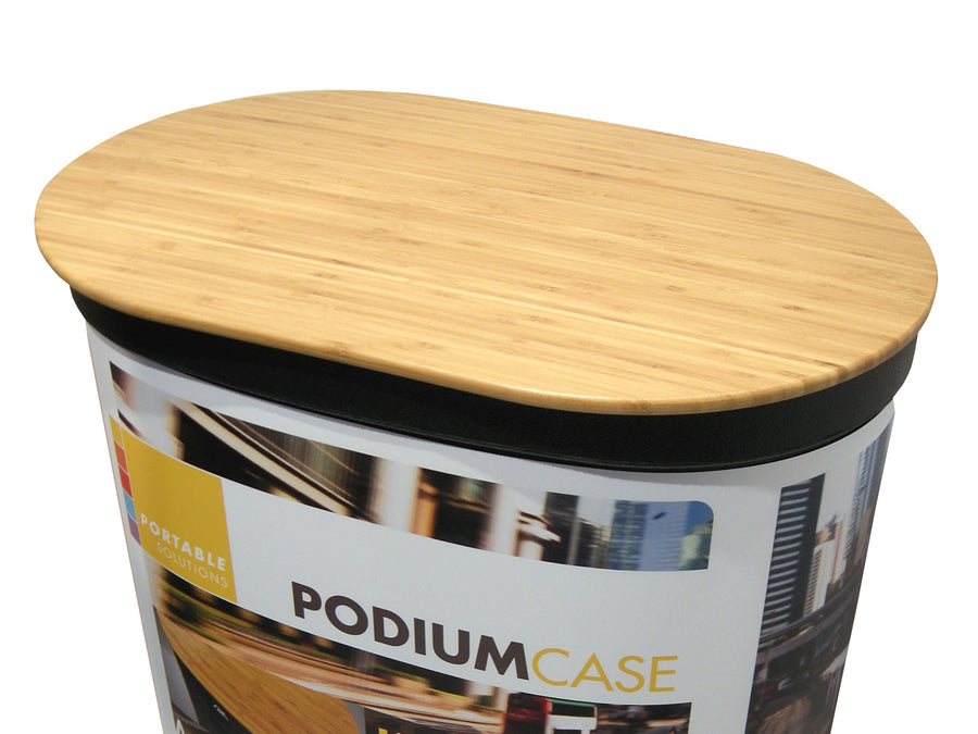 Wood podium countertop for Magnum Oval Case