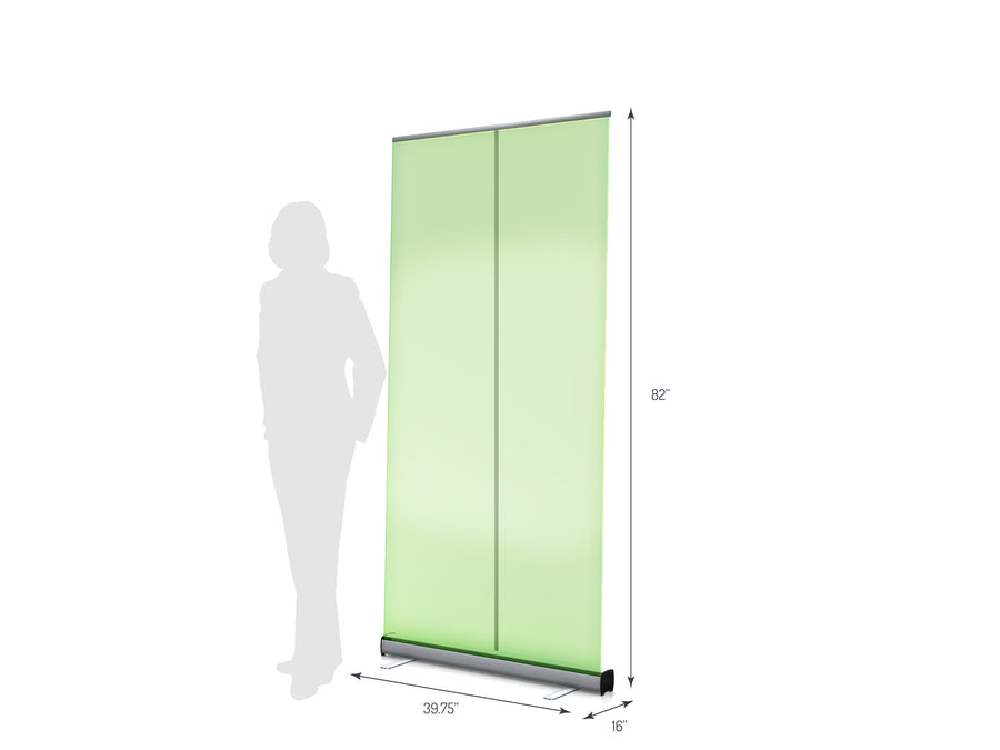 "One R1 1000 (39"") Retractable Banner Stand (View 01)"