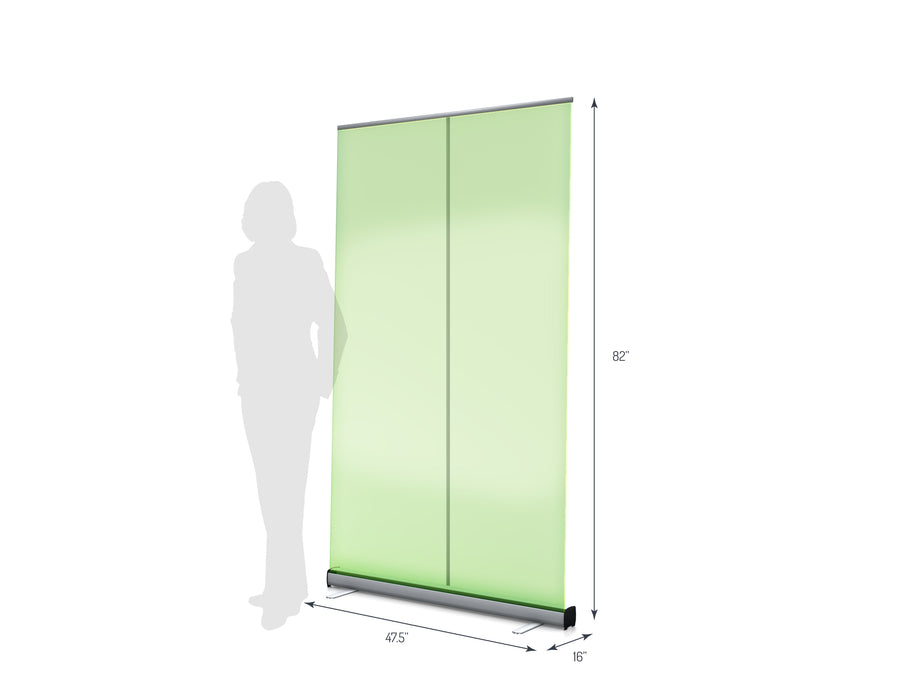"One R1 1200 (47"") Retractable Banner Stand (View 01)"