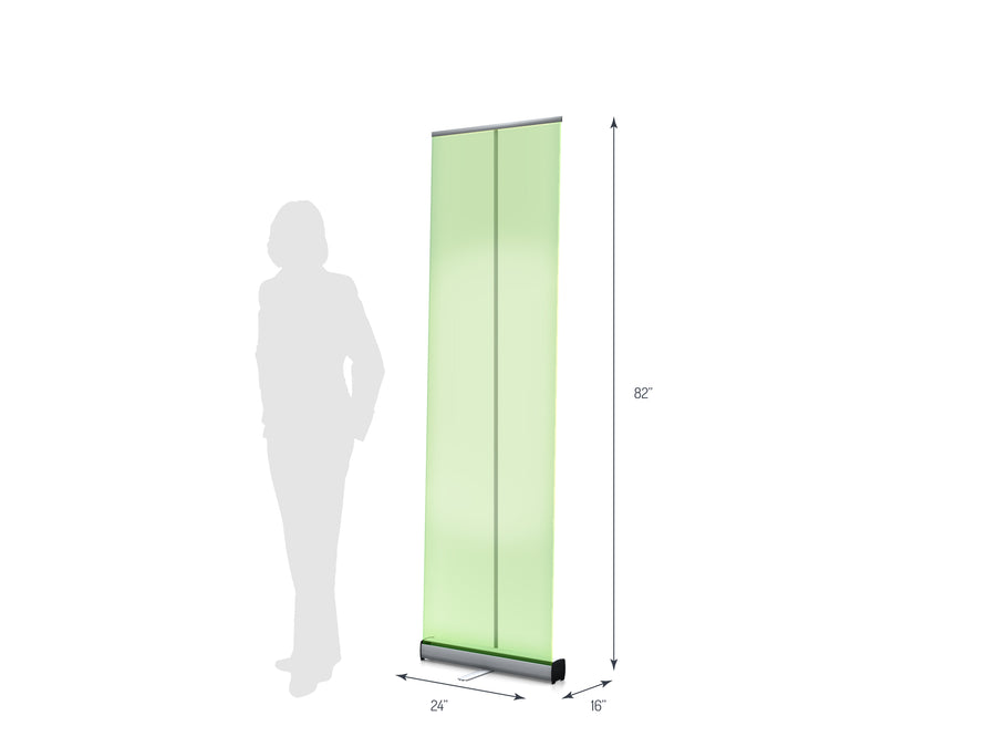 "One R1 600 (23"") Retractable Banner Stand (View 01)"