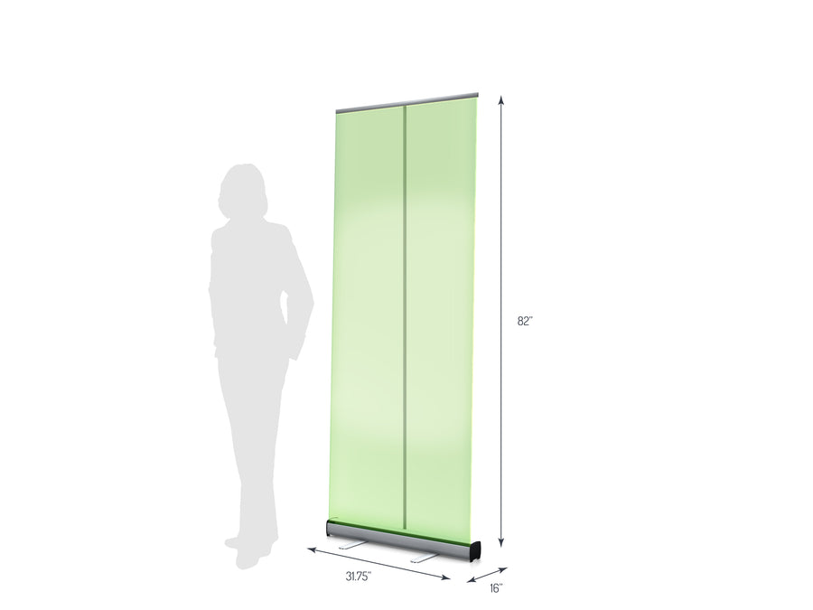 "One R1 800 (31.5"") Retractable Banner Stand (View 01)"