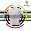 Men's Singularity White Half Stripe