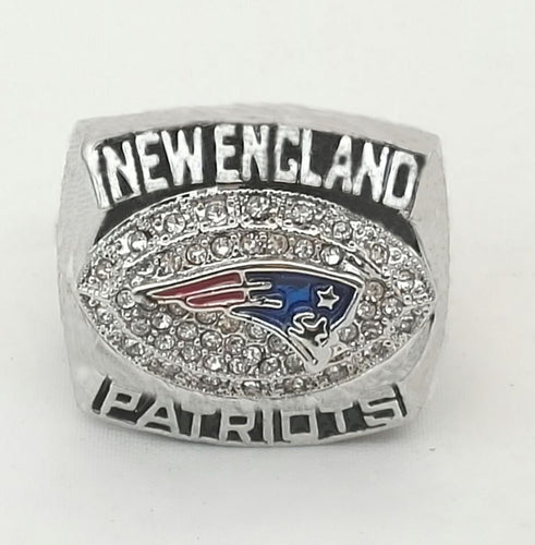 Super Bowl New England Patriots Zinc Alloy silver plated Replica World Championship Ring