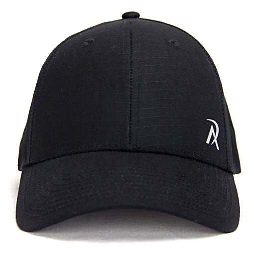 B0004 - Ripstop Snapback Hat Black Front
