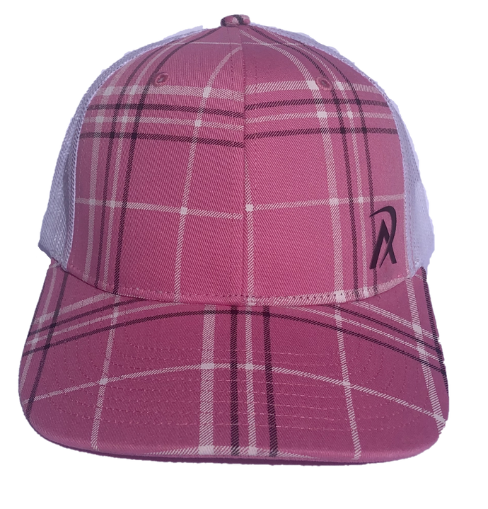 REALI Plaid Womens Pink Snap Back