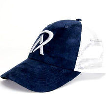 NW0001 - REALI-Suede Hat Snapback Navy Side