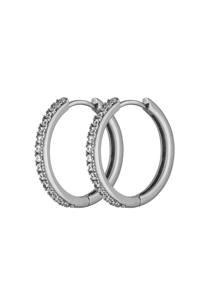 Allira Hoops Medium Silver