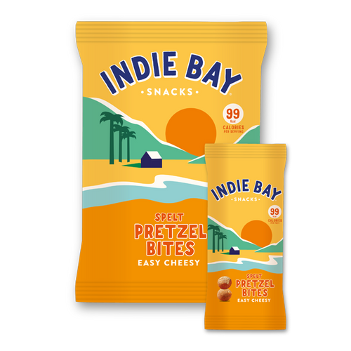 Indie Bay Snacks Easy Cheesy pretzel bites pack