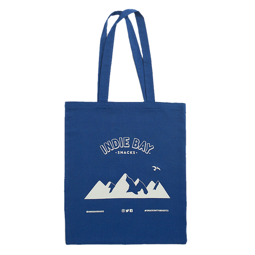 Blue Indie Bay Snacks Tote bag