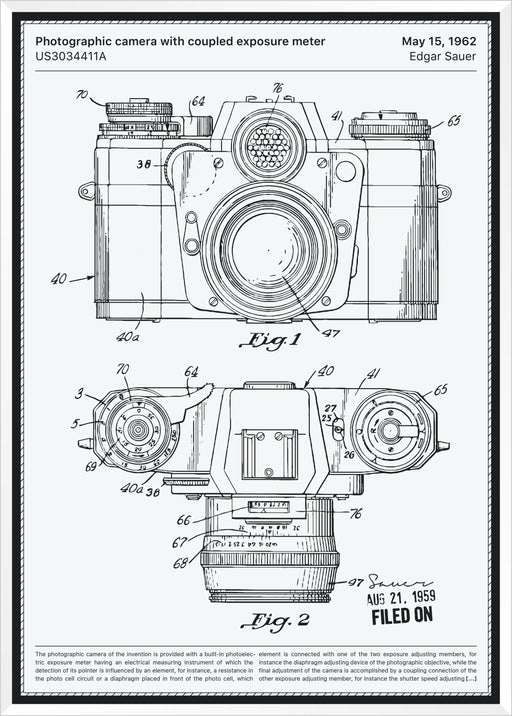 Camera with exposure meter
