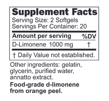 Orange Burps - Supplement Facts