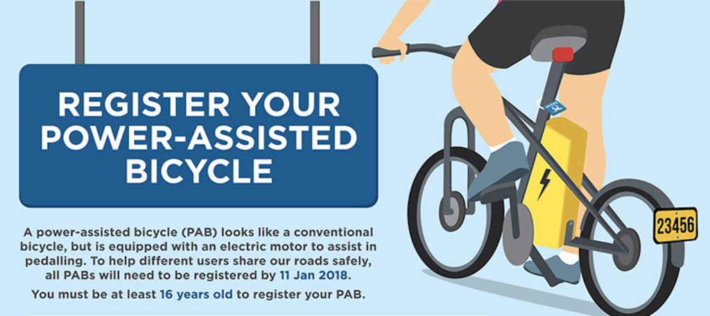 Registering your Power-Assisted Bicycle (PAB) in Singapore