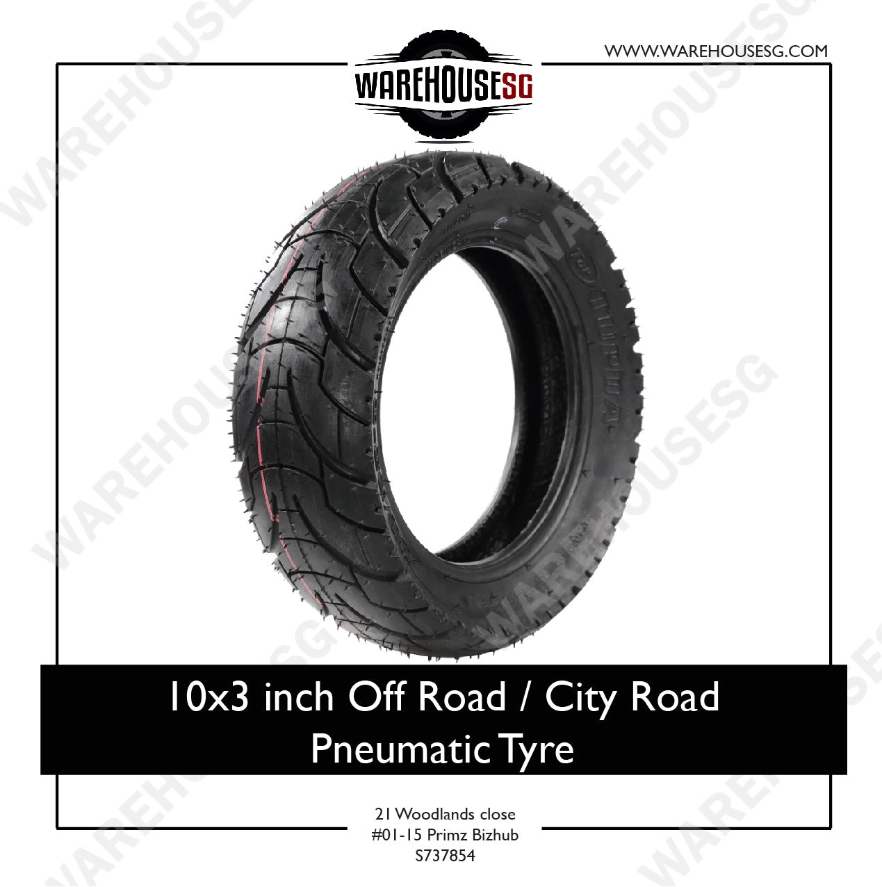 "10"" x 3.0"" Off Road/ City Road Pneumatic Tyre for Electric Scooter"