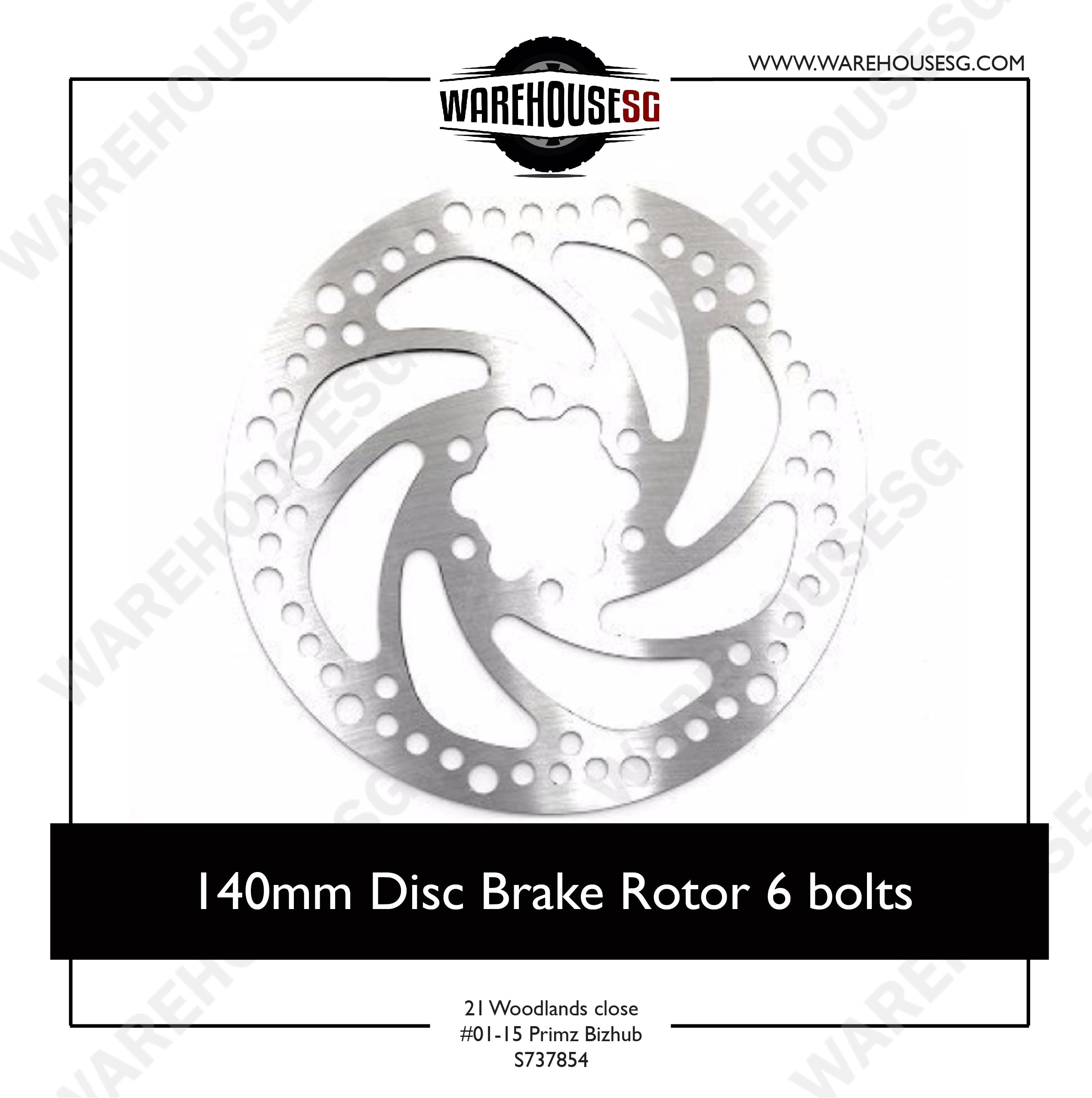 140mm Disc Brake Rotor 6 bolts for Xiaomi Mijia / Speedway 4 / Futecher / Dualtron / Reaihub R3 R4 / Sw4 Electric Scooter