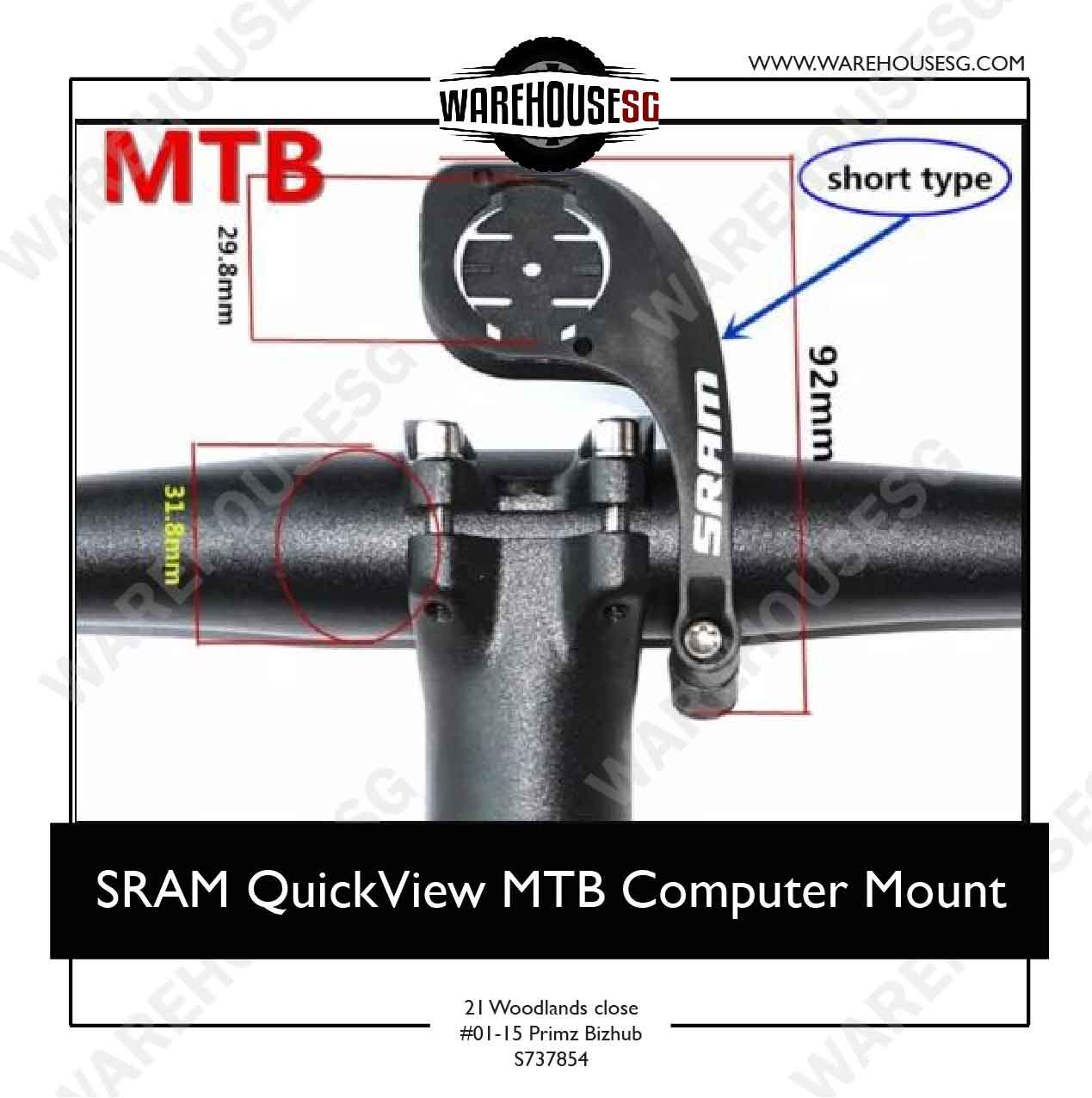 SRAM MTB QuickView Computer Mount