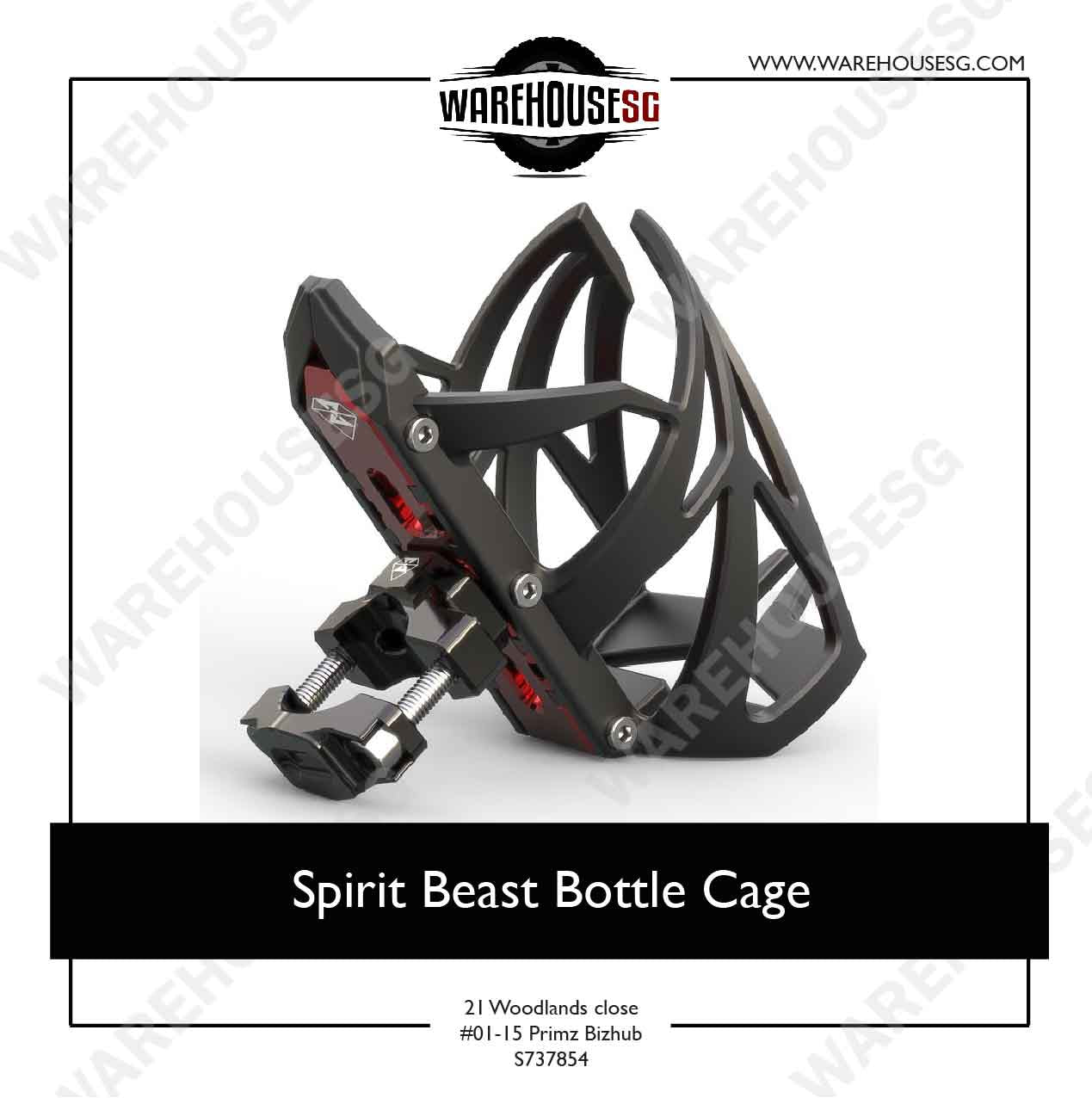Spirit Beast Motorcycle Water Bottle Cage Holder Mount Stand Support