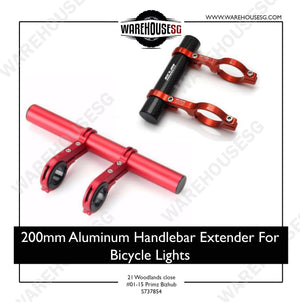 200mm Aluminum Handlebar Extender For Bicycle Lights