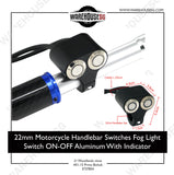 2 IN 1 LED aluminium Switch