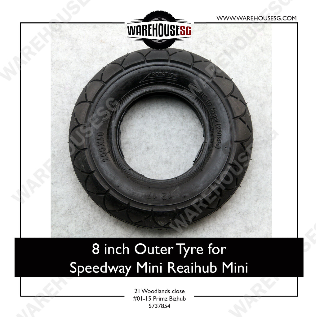 Hota 8 Inch Outer Tyre for Speedway Mini 3/4