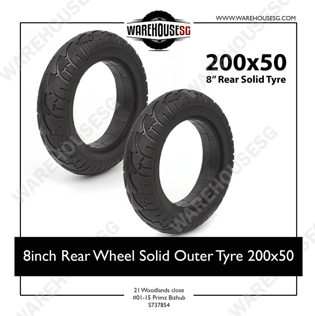 8inch Rear Wheel Solid Outer Tyre 200x50 For Speedway Mini 3/ Mini 4