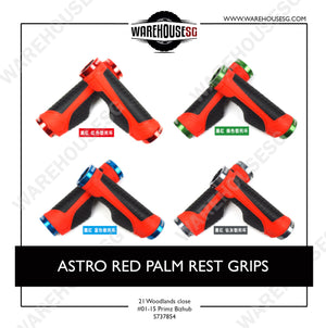 ASTRO RED PALM REST GRIPS