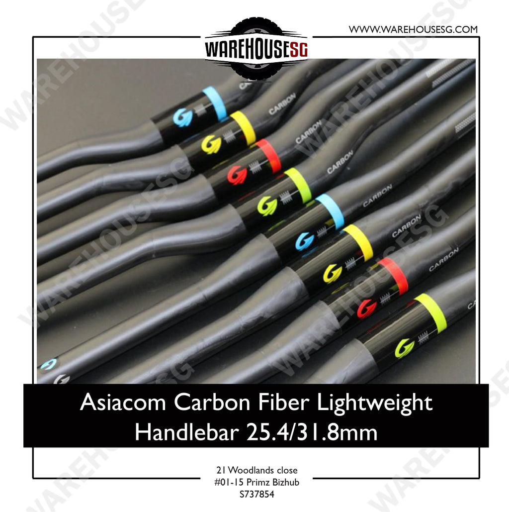 Asiacom Carbon Fiber Lightweight Handlebar 25.4/31.8mm