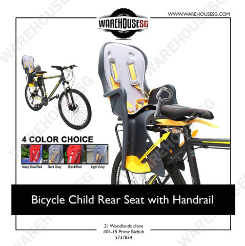 Bicycle Child Rear Seat with Handrail